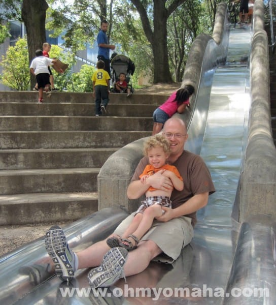This is the world's longest slide, if you ask any 3-year-old in Omaha.