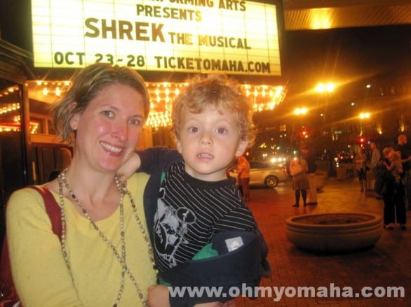"Farley's first Broadway tour show was ""Shrek."" I recommend not timing your kid's first musical to coincide with the week you begin potty training."