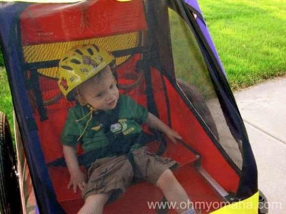 Kid-friendly bike trails in Omaha - Including which trails are wide enough for bike trailers