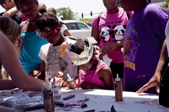 Omaha Summer Arts Festival's Children's Fair features art opportunities for youth. Photo courtesy Omaha Summer Arts Festival.