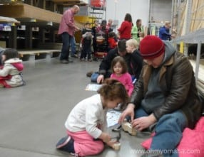 Lots of families hard at work at Lowe's.