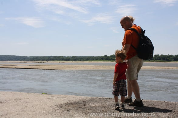 Checking out the Platte River.