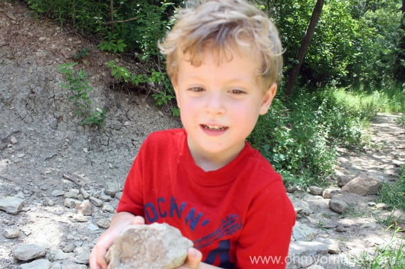 Amazing how excited a kid can get about a big rock. I guess if you put a big rock on a ring a woman sometimes gets that way.