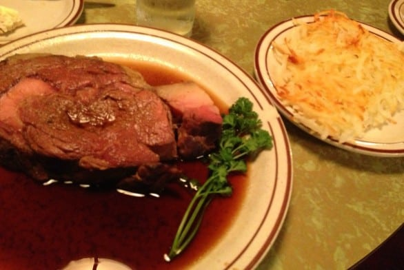 Bolton recommends the prime rib. Stop drooling.