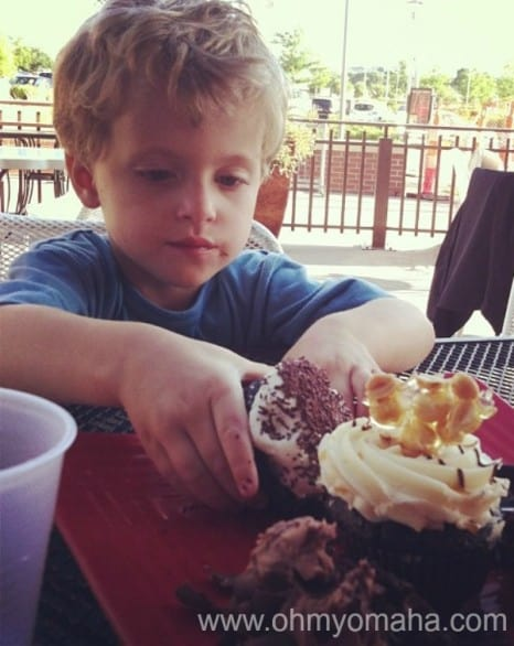 Jones Bros. Cupcakes at Aksarben Village is across the street from a playground. Kids can run off that sugar high.