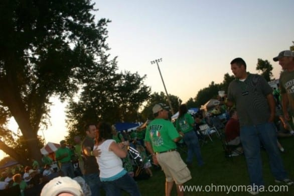 Greely Irish Festival at dusk.