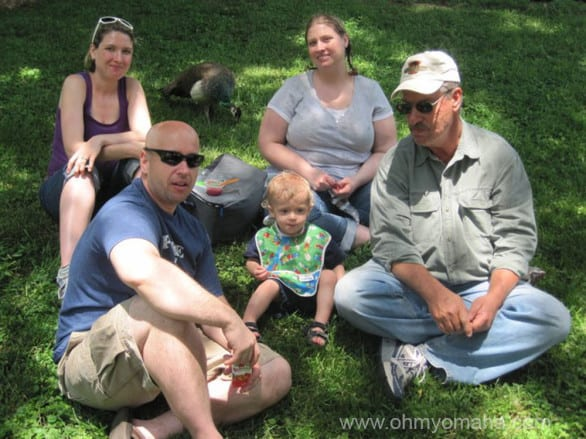 """Picnics at the zoo in Omaha are always popular - as seen here """"dining"""" with the family on the grass back in 2011 - but the health nuts and veg lovers out there have options, if you choose to purchase food there."""
