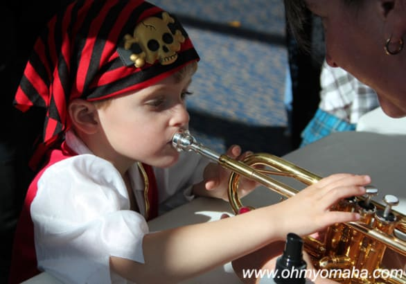 A trumpet-playing pirate. And by trumpet-playing, I mean he touched a trumpet and made no sounds.