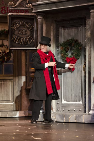 "Jerry Longe is Ebenezer Scrooge in Omaha Community Playhouse's ""A Christmas Carol."""