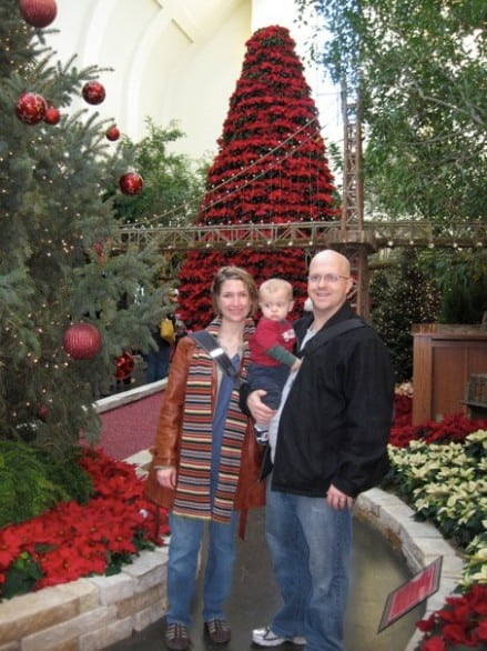 Farley is so little in this picture at Lauritzen Gardens in 2010! But check out that setting, pretty sweet, right?