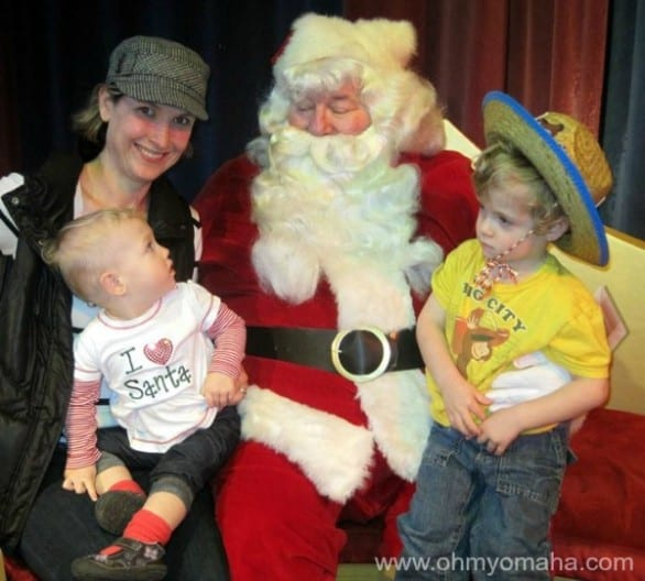 You'll find Santa at the Omaha Children's Museum on Dec. 8 during the Wells Fargo Family Fest.