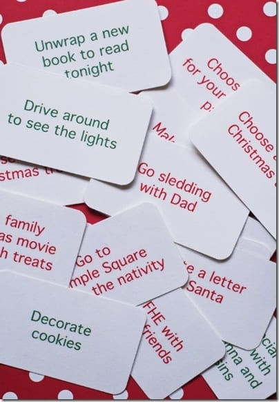 25 Days of Christmas courtesty of All Things Simple blog. Overacheiver (but a good source for inspiration).