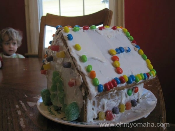 I didn't want to get the kids 12 gifts, so some days of the 12 Days of Christmas were activities, like building a gingerbread house.