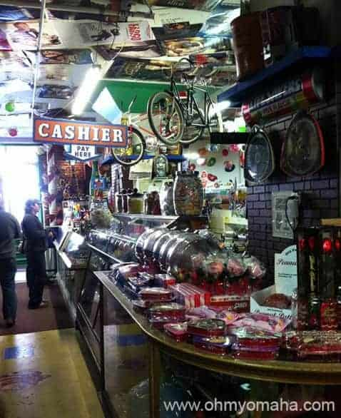 The candy counter at Hollywood Candy in Omaha, Nebraska