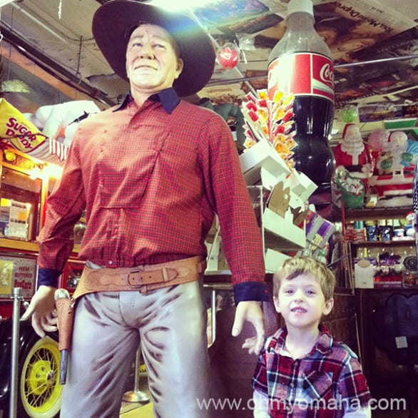 John Wayne statue at Hollywood Candy
