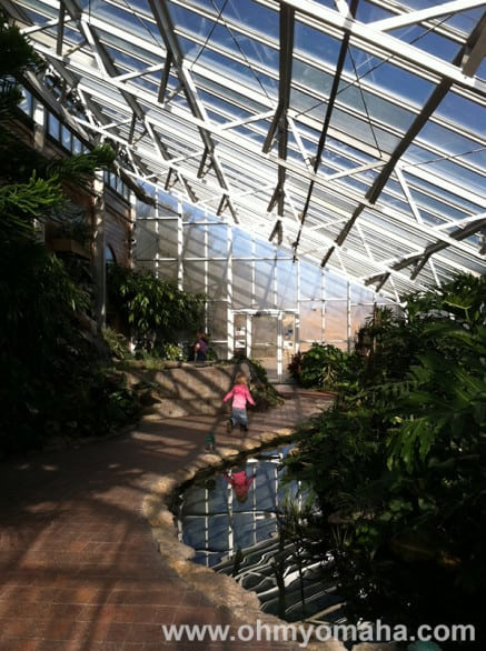 Inside the small conservatory at Mahoney State Park