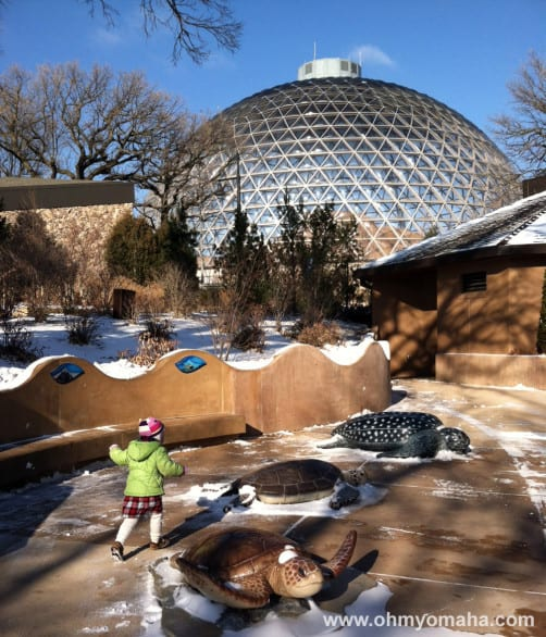 Omaha's zoo at winter