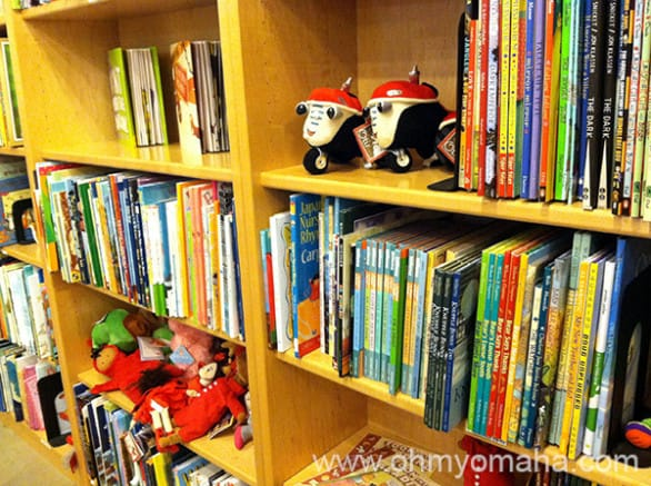 Part of the children's department at Indigo Books.