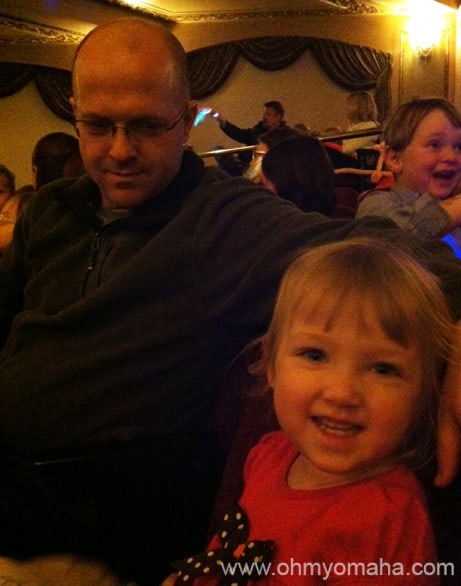 My 2-year-old's first show at Omaha's Orpheum Theater.