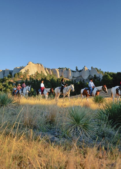 A trail ride near Fort Robinson.