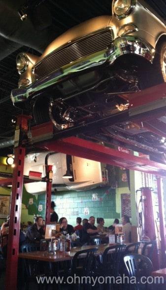 Quaker Steak & Lube, near the MId-America Center, has themed dining rooms - cars, trucks, motorcycles - that sort of thing.