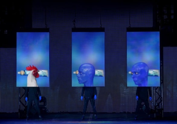 The Blue Man Group performs at the Orpheum Theater Oct. 24-26. Photo by Paul Kolnik