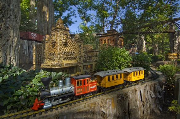 A huge hit for any youngster is the miniature train at Lauritzen Gardens. Photo courtesy Nebraska Tourism