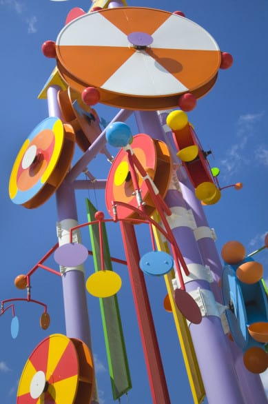 Every child in Omaha knows the moment they see these doohickeys they're near the Omaha Children's Museum. Photo courtesy Nebraska Tourism.