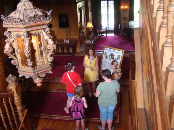 The Brucemore Mansion is a National Historic Trust Site in the middle of the city. They offer tours of the historic mansion - be sure to take some time to explore the 26 acres and check for turtles in the pond. Photo courtesy Cedar Rapids Area Convention and Visitors Bureau