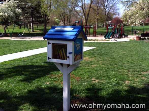 We put the Little Free Library up over the weekend at Metcalfe Park, located between Dundee and Benson.