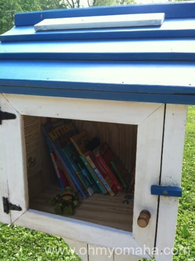 The windowless Little Free Library carries on.