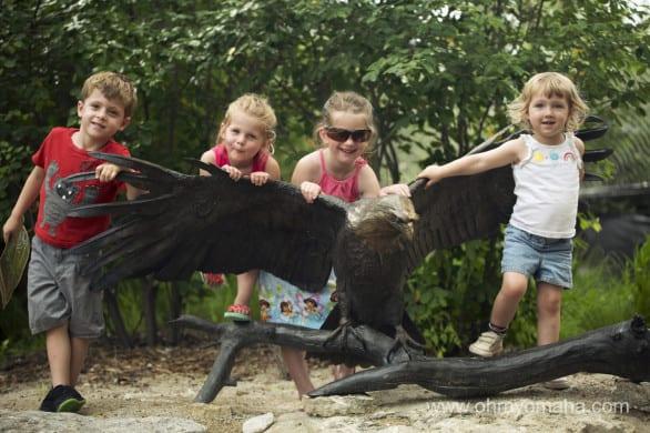 Eagle statue at wildlife safari