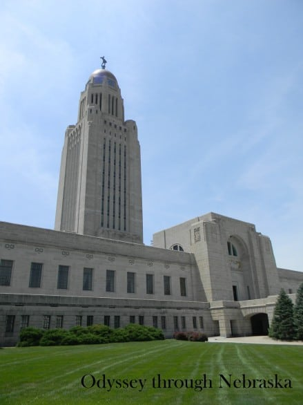 The Nebraska State Capitol. Photo courtesy Odyssey Through Nebraska.