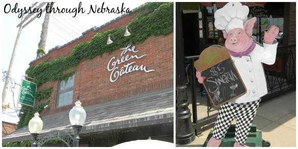 The Green Gateau at 330 S. 10th. Photo collage courtesy Odyssey Through Nebraska.