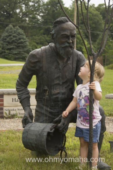 This statue of a former governor was a favorite of the kids. I have no idea why.