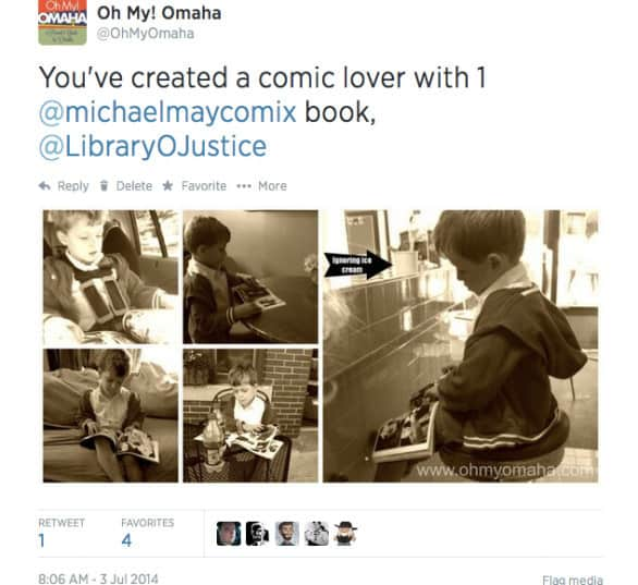 comic booklover tweet