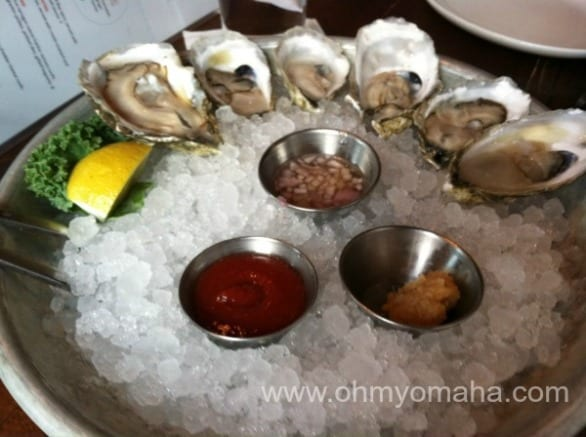 Oysters at Plank Seafood Provisions, one of the Happy Hour deals