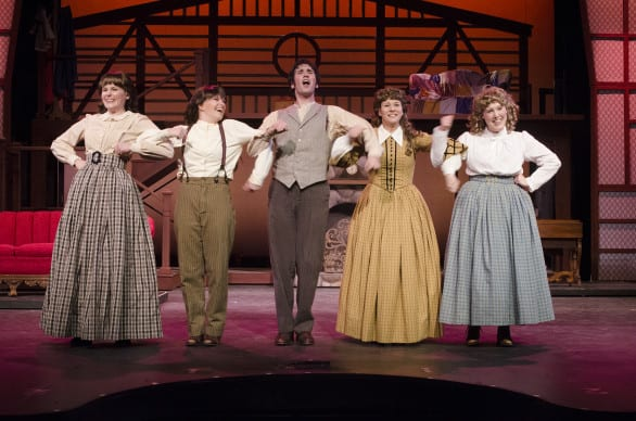 """Time for a musical number. This was a fun one, """"Five Forever,"""" featuring Jo (Sims Lamason), Laurie (Tim Abou-Nasr), Amy (Jen Morris), Meg (Leanne Hill Carlson) and Beth (Carly Schneider)."""