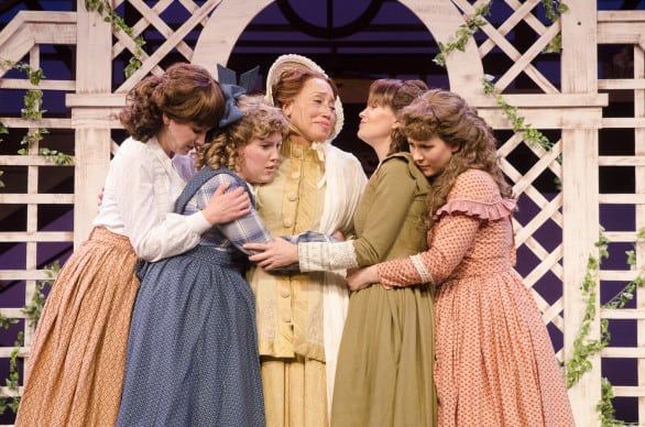 """The March women in """"Little Women"""" at Omaha Community Playhouse. Photos courtesy Omaha Community Playhouse"""