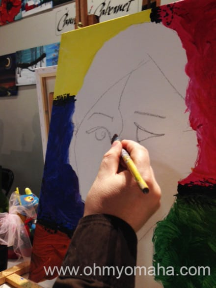 The early stages of my portrait.