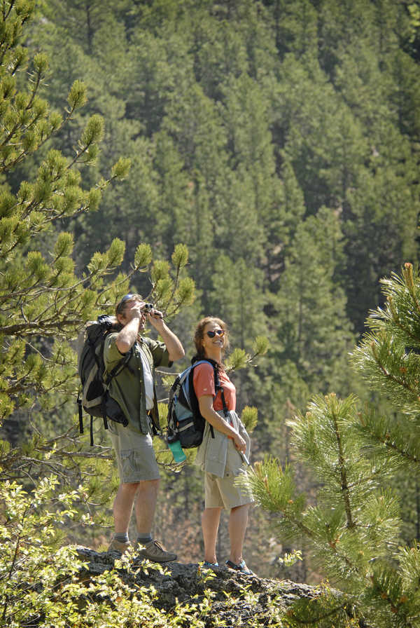 Hikers at Custer State Park in South Dakota