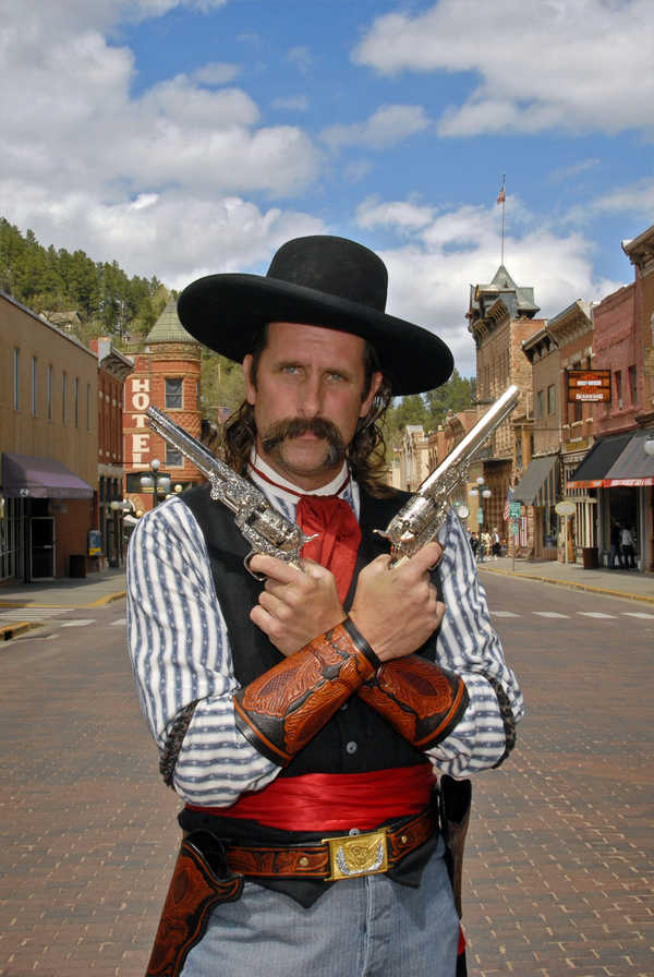 Historic reenactor in Deadwood, South Dakota
