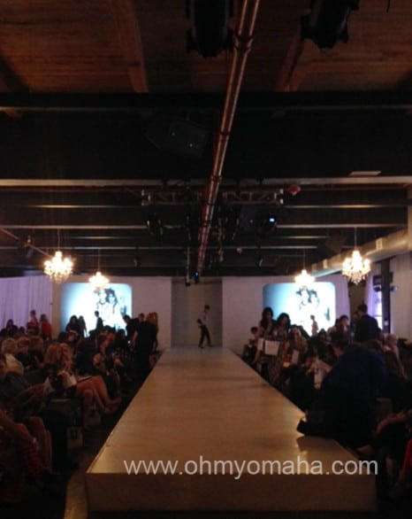 The scene at Omaha Fashion Week on March 12 at Omar Arts & Events.