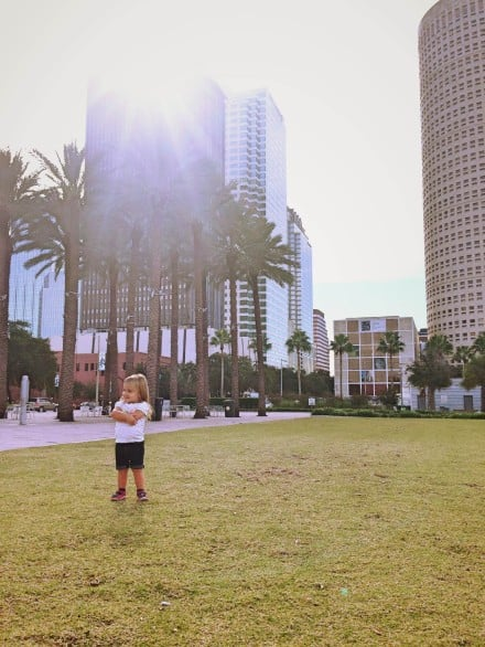 Curtis Hixon Park, located near Glazier Children's Museum, is one of many places to play in Downtown Tampa. Photo courtesy Marisa Langford