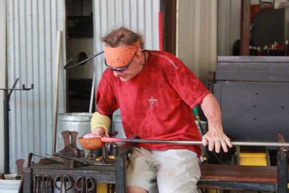 We watched resident artist Paul create a serving bowl during a live demonstration.