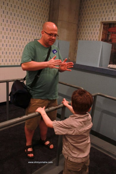 Mr. Wonderful attempting to explain how earthquakes happen, right before the room started shaking on us at MOSI.