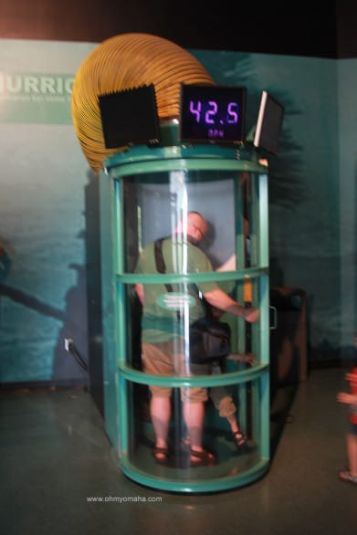 Mr. Wonderful and Farley see how much they can handle in the hurricane simulator.
