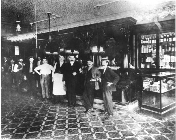 The Columbia Restaurant café dining room in 1906, one of 15 dining rooms. The restaurant opened the year before this photo was taken. Photo courtesy Columbia Restaurant