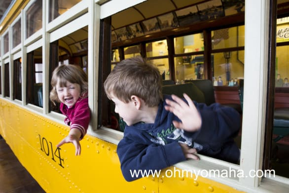 Things to look for at The Durham Museum - Kids love running through the old streetcar.
