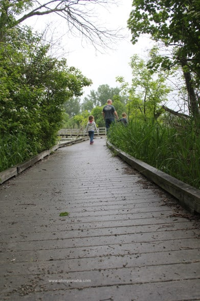 Intro to Heron Haven - A boardwalk at Heron Haven, a small wildlife refuge in the heart of Omaha